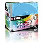 EMTEC CD-R 700 Mo certifié 52x couleur (pack de 10, boitier slim)