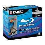 EMTEC BD-R 25 Go Certifié 2x (Blu-ray Disc simple couche, pack de 5, boitier jewel)