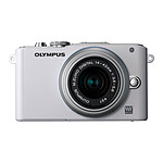Olympus PEN E-PL3 Blanc + Objectif M.ZUIKO DIGITAL 14-42mm 1:3.5-5.6 II  Argent