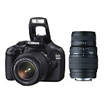 Canon EOS 1100D + Objectifs 18-55 mm et 70-300mm