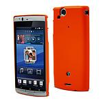 Muvit Coque arrière gomme pour Sony Ericsson Xperia Arc Orange