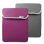 Muvit - Housse néoprène réversible pour Nouvel iPad / iPad 2 - Fushia / Gris