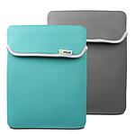 Muvit - Housse néoprène réversible pour Nouvel iPad / iPad 2 - Turquoise / Gris