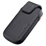 BlackBerry Leather Swivel Holster Noir