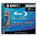 EMTEC BD-R 25 Go Certifié 2x (Blu-ray Disc simple couche, boitier jewel)