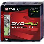 EMTEC DVD-RW 4.7 Go certifié 4x (pack de 5, boitier jewel)
