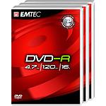 EMTEC DVD-R 4.7 Go certifié 16x (pack de 3, boitier DVD)
