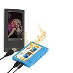 """Haut-parleur portable """"K7 rétro"""" (coloris bleu)"""