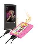 """Haut-parleur portable """"K7 rétro"""" (coloris rose)"""