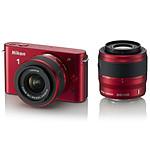 Nikon 1 J1 Rouge + Objectifs 1 NIKKOR VR 10-30 mm f/3.5-5.6 + VR 30-110 mm f/3.8-5.6