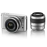Nikon 1 J1 Argent + Objectifs 1 NIKKOR VR 10-30 mm f/3.5-5.6 + VR 30-110 mm f/3.8-5.6
