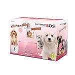 Nintendo 3DS Rose Corail + Nintendogs + cats : Golden retriever & ses nouveaux amis