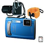 Olympus TG-310 Bleu + Outdoor Kit
