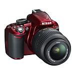 Nikon D3100 rouge + Objectif  AF-S DX NIKKOR 18-55 mm VR