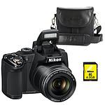 Nikon Coolpix P500 + Nikon CS-P08 + Nikon SDHC 4Go