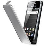 Samsung étui en cuir Blanc (pour Samsung Galaxy Ace)
