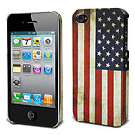 Muvit Coque rigide Drapeau vieilli USA pour iPhone 4 / 4S
