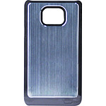 Swiss Charger Coque alu brossé Argent pour Samsung Galaxy SII