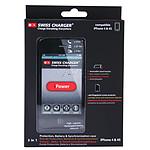 Swiss Charger Coque pour iPhone 4/4S avec batterie 1400 mAh intégrée