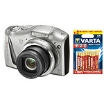 Canon PowerShot SX150 IS Argent + 6 piles Varta Max Tech AA