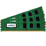 Crucial 6 Go (3 x 2 Go) DDR3 1333 MHz CL9 ECC Registered