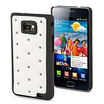 Muvit Coque Club Capitonnée Blanche pour Samsung i9100 Galaxy S II