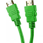 Câble HDMI 1.4 Ethernet Channel mâle/mâle Vert - (1.5 mètre)