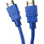 Câble HDMI 1.4 Ethernet Channel mâle/mâle Bleu - (0.5 mètre)