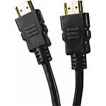 Câble HDMI 1.4 Ethernet Channel mâle/mâle Noir - (0.5 mètre)