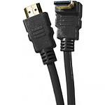 Câble HDMI 1.4 Ethernet Channel Coudé mâle/mâle Noir - (2 mètres)