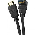 Cable HDMI 1.4 Ethernet Channel acodado macho/macho negro - (1,5 metros)