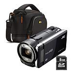 JVC GZ-GX1 Noir + Carte SD 8 Go + Case Logic SLDC-203