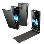 Made for Xperia Etui à clapet Noir pour Sony Xperia S
