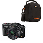 Panasonic Lumix DMC-GF3X Noir avec objectif X VARIO 14-42mm + Etui Case Logic SLMC-201 + Carte SD 8 Go