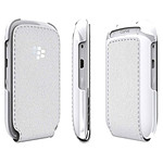 BlackBerry Leather Flip Shell Blanc (ACC-46594-202)