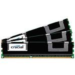 Crucial 48 Go (3 x 16 Go) DDR3 1066 MHz CL7 ECC Registered QR X8