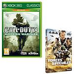Call of Duty 4 : Modern Warfare Platinum + DVD Forces spéciales (Xbox360)
