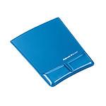 Fellowes tapis de souris avec repose-poignet (coloris bleu)