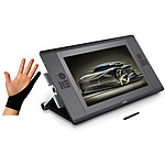 Wacom Cintiq 24HD + Gant SmudgeGuard Cool Black Large