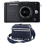 Olympus PEN E-PL3 + Objectif M.ZUIKO DIGITAL 14-42mm 1:3.5-5.6 II  Noir + Fourre tout PEN Street