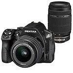 Pentax K-30 Noir + Objectif DA L 18-55mm f/3.5-5.6 AL + Objectif DA L 55-300mm f/4-5.8 ED