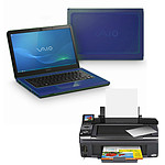 Sony VAIO CA3S1E Bleu + Epson Stylus SX400 Wi-Fi Edition
