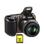 Nikon Coolpix L810 Gris + Nikon SDHC 4 Go