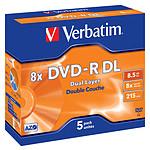 Verbatim DVD-R DL 8.5 Go 8x 215 min (par 5, boitier jewel)