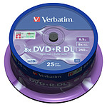 Verbatim DVD+R DL 8.5 GB 8x 240 min (por 25, spindle)