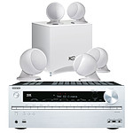 Onkyo TX-NR616 Argent + Cabasse Alcyone Pack 5.1 Blanc