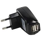 Chargeur secteur double USB (500 mA)
