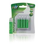 Piles rechargeables LR03 - AAA - 1000 mAh - 1.2V (par 4)