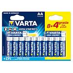 Varta High Energy AA 8+4 gratuites