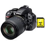 Nikon D3100 + AF-S DX NIKKOR 18-105 mm VR + Carte SDHC 4 Go